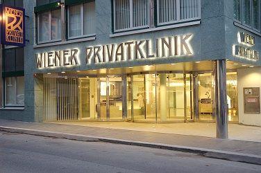 Eingang Wiener Privatklinik für Gefäßerkrankungen