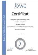 Master-Zertifikat der Deutschen Wirbelsäulengesellschaft